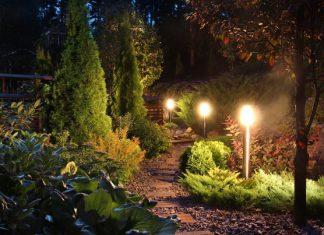 תאורת גינה מוגנת מים לקראת החורף